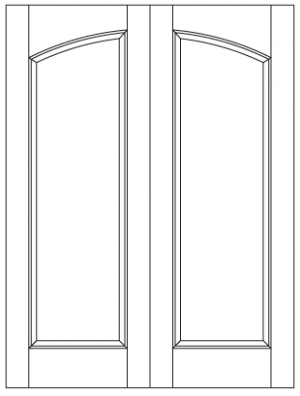 Common Arched Pair with Semi-Arched Panels