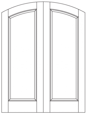 Common Arched Pair with Semi-Arched Panels and Top Rail