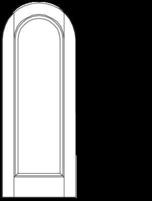 Radiused Panel & Top Rail